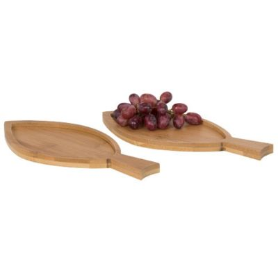 Set 2 taglieri in bambù a forma di pesce per antipasti