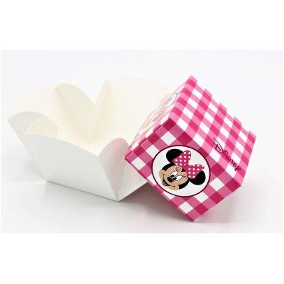 MINNIE DISNEY PARTY Scatola Fleur ROSA portaconfetti 9x9x9 cm