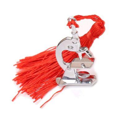 MICROSCOPIO in metalllo con nappina rossa BOMBONIERA LAUREA