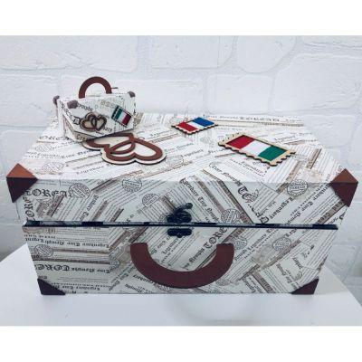 Valigia Viaggio Set con 36 pezzi mini valigie portaconfetti BOMBONIERA