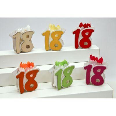 1 PZ Scatolina legno portaconfetti diciottesimo compleanno con sacchetto