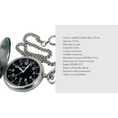 Orologio da tasca taschino LOWELL al quarzo in scatola regalo