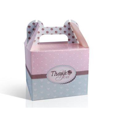 STOCK 10 PEZZI Scatola per torta in carta design CupCuke e scritta Grazi