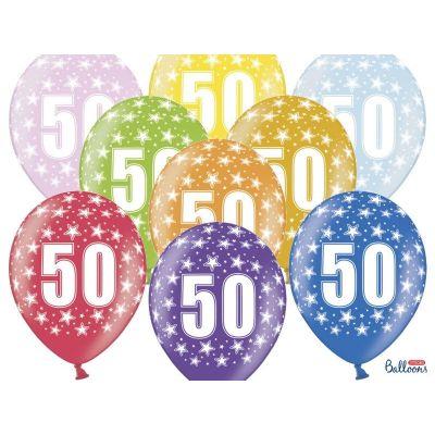 12 PEZZI Palloncini LATTICE 30 CM numero 50 COMPLEANNO 50 ANNI