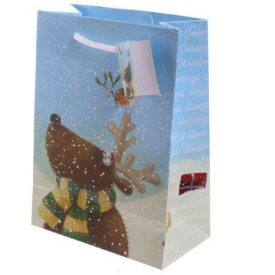 Busta Regalo 17x9x23cm  Renne di Natale di Jan Pashley