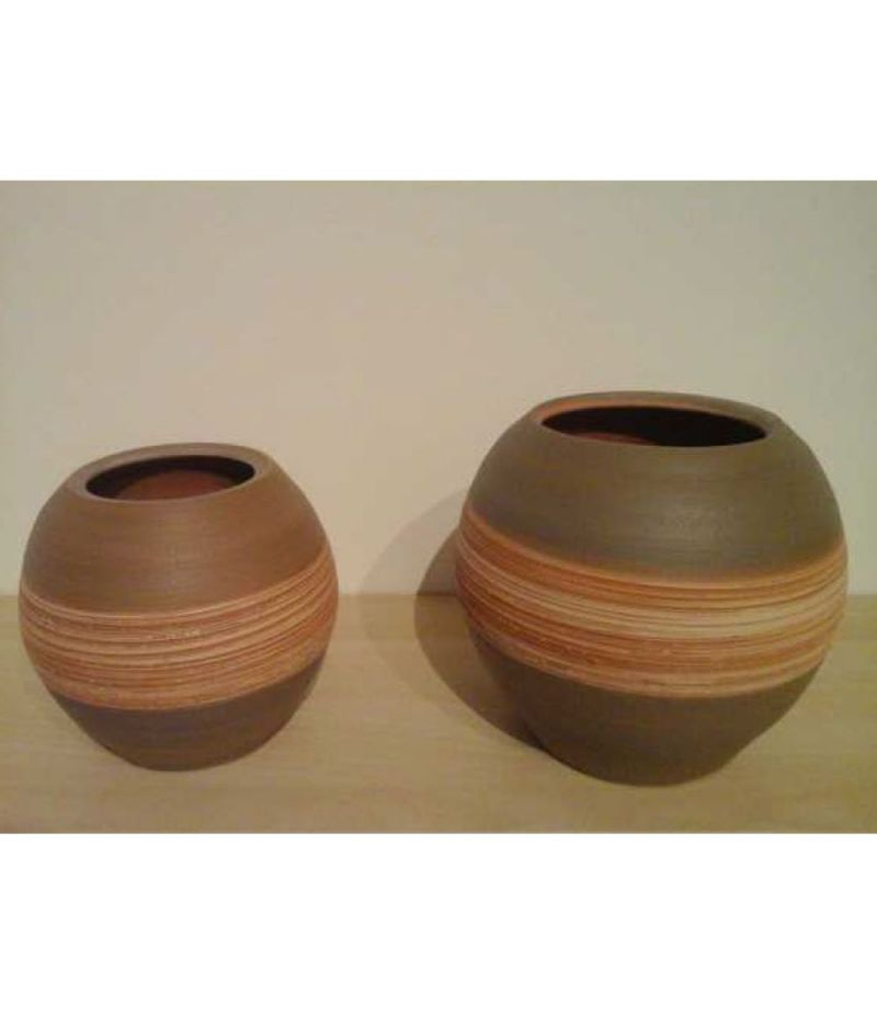 Set 2 pezzi Caspo Vaso ceramica LINEA NATURALE 20X11.5 CM 16X10 CM