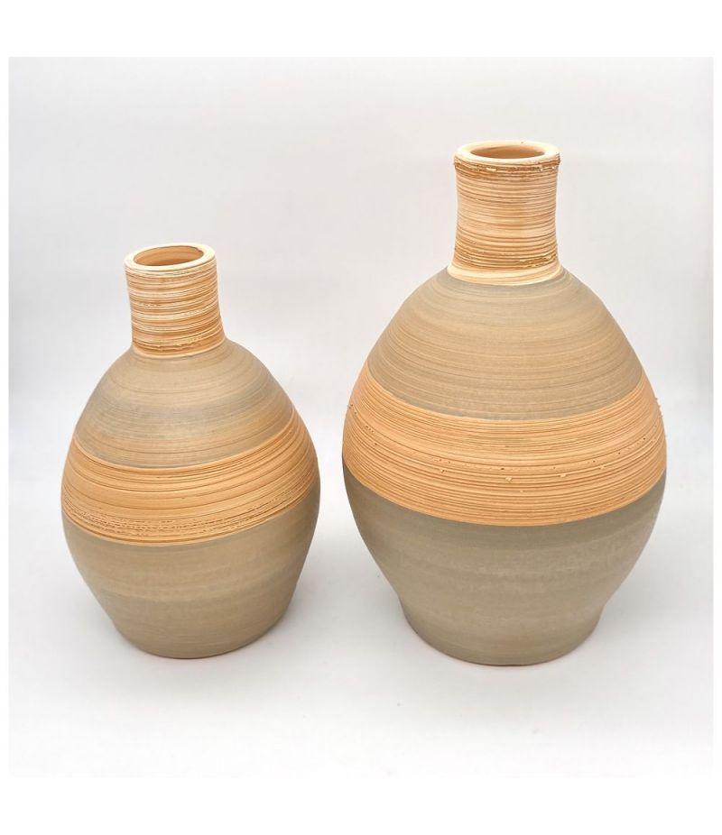 Set 2 Pezzi ANFORA ceramica linea naturale 28 e 22 cm