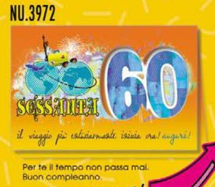 Biglietto Auguri Compleanno 60 Anni Il Viaggio Piu Entusiasmante Inizia