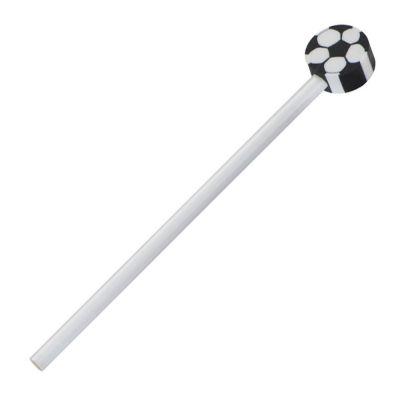 Matita in legno con gomma a forma di pallone da calcio BOMBONIERA