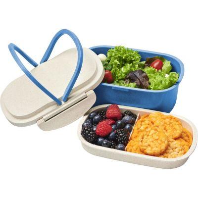 Lunchbox Crave Contenitore Portapranzo in fibra di paglia BLU