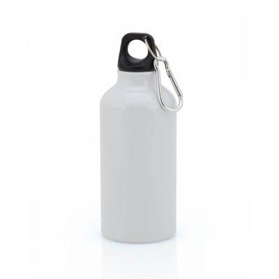 Borraccia in alluminio da 400 ml colore BIANCO - NO PLASTICA