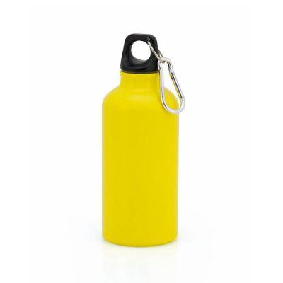 Borraccia in alluminio da 400 ml colore GIALLO - NO PLASTICA