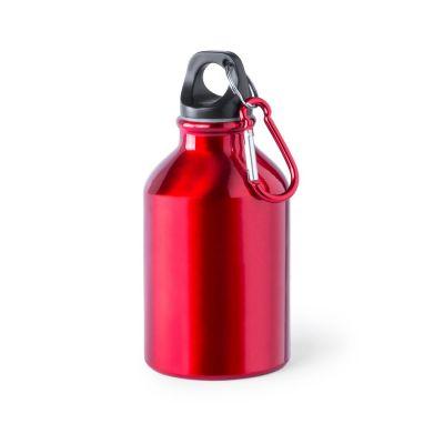 Borraccia in alluminio da 330 ml colore ROSSO - NO PLASTICA