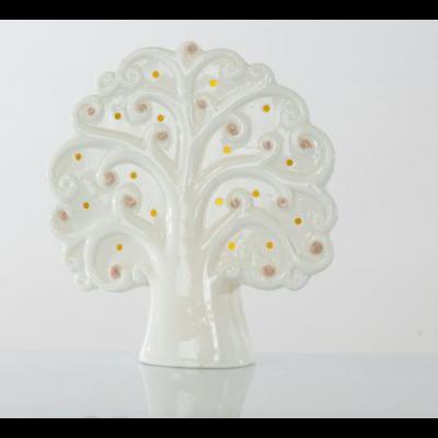 Albero della vita in porcellana lampada led 16x6x18 cm BOMBONIERA