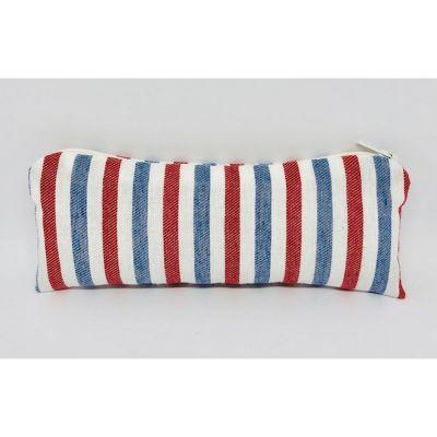 Astuccio Portaconfetti con zip a righe rosso bianco blu BOMBONIERA