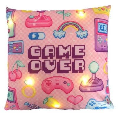 Cuscino con luce led 40x40 cm GAVE OVER rosa