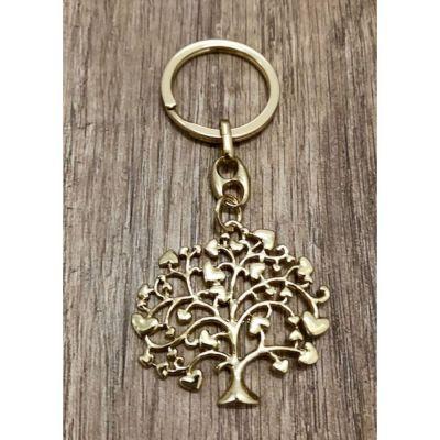 Portachiavi albero della vita colore oro BOMBONIERA