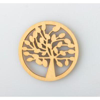 Applicazione ALBERO DELLA VITA in legno decorazione Bomboniera D.4 cm