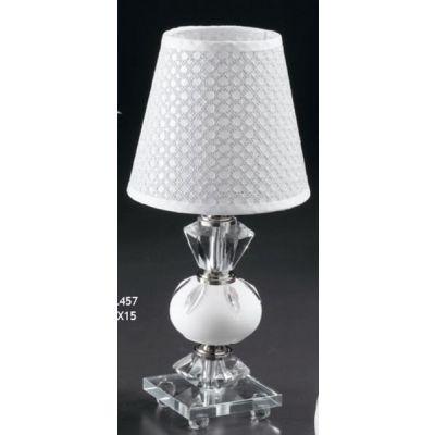 Piccola Lampada Lume in vetro tipo cristallo e inserto con SPICCHI