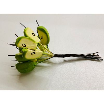 12 Fette di mela fiore artificiale bomboniera decorazione