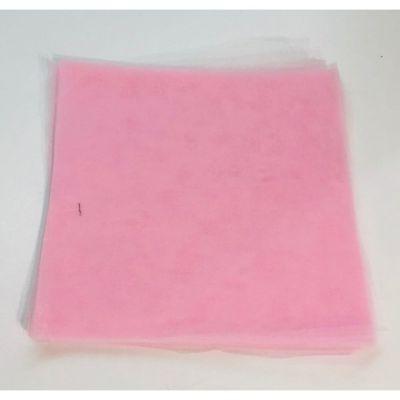 50X Tulle portaconfetti ROSA quadrato 24 cm certificato per alimenti