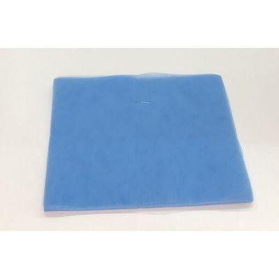 50X Tulle portaconfetti CELESTE quadrato 24 cm certificato per alimenti