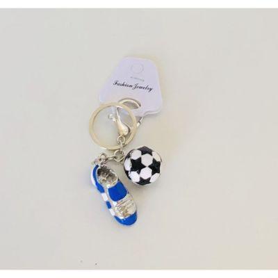 Portachiavi in metallo Scarpa e pallone da calcio BOMBONIERA