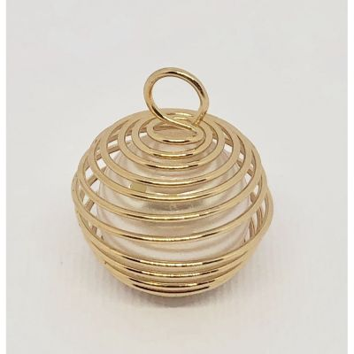 Perla Spirale colore ORO da appendere decorazione bomboniera