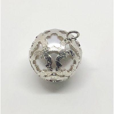 Decorazione Bomboniera Perla Argento da appendere 1.5 cm