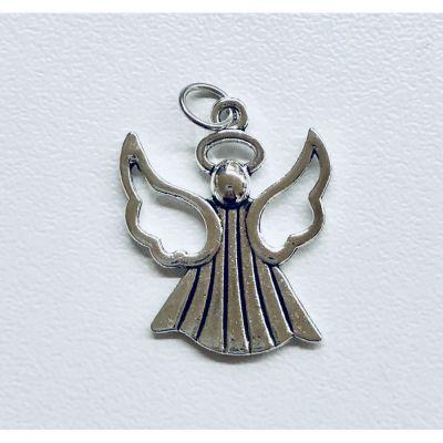 Ciondolo in metallo ANGELO 2.5 cm decorazione BOMBONIERA