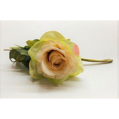 Rosa con edera e foglie colore THEA fiore artificiale bomboniera