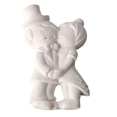 Gesso Gessetto Sposi Sposini da 5 cm decorazione BOMBONIERA