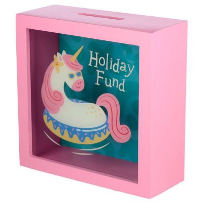 Salvadanaio con Finestra - Unicorno Tropicale - HOLIDAY FUND