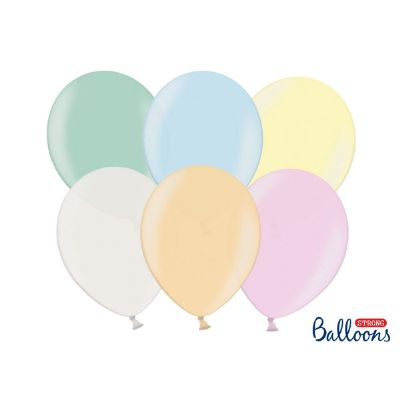 100 PZ Palloncino Palloncini Lattice 27 cm MULTICOLORE Perlato metallic