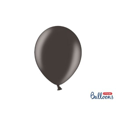 50 PZ Palloncino Palloncini Lattice 10 Pollici 27 cm NERO metallic