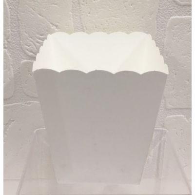 Vaso in carta bianco portaconfetti confettata smerlato