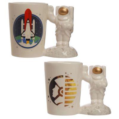 1 PZ Tazza con Manico a Forma di Astronauta