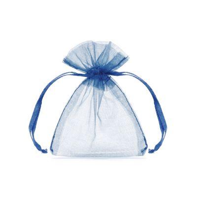 20 PEZZI sacchetto portaconfetti porta confetti in organza BLU ROYAL