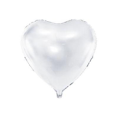 Palloncino foil mylar a forma di CUORE BIANCO 61 cm