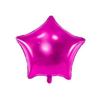 Palloncino Foil mylar a forma di stella FUXIA 48 cm