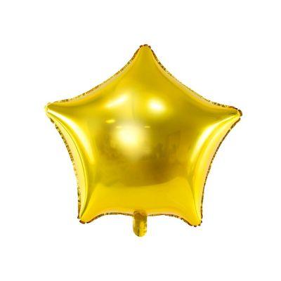 Palloncino Foil mylar a forma di stella ORO 48 cm
