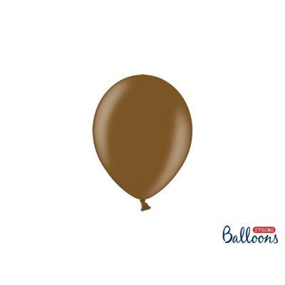 100 PZ Palloncino Palloncini Lattice 23 cm MARRONE CIOCCOLATO metallic