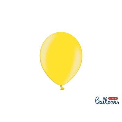 100 PZ Palloncino Palloncini Lattice 27 cm GIALLO LIMONE metallic