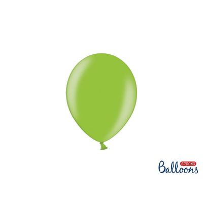 10 PZ Palloncino Palloncini Lattice 27 cm VERDE LUMINOSO metallic
